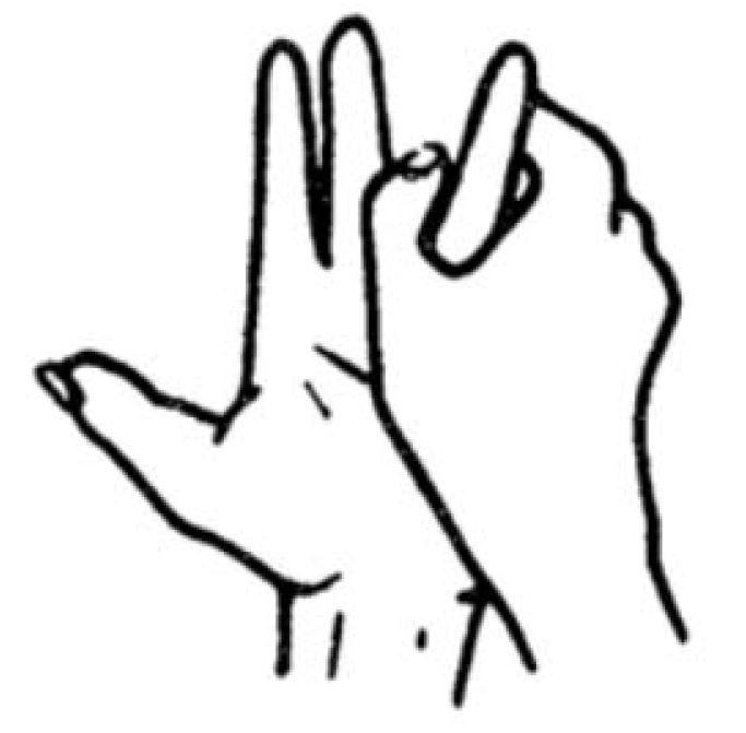 Ringfinger und kleiner Finger - Jin Shin Jyutsu für die Beine